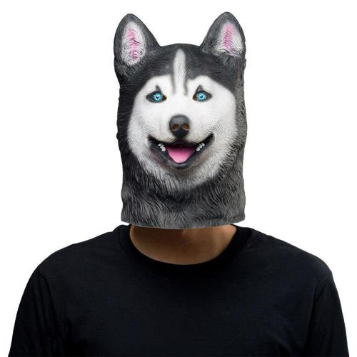 Siberian Husky Dog Helmet Halloween Animal Latex Helmet Adult Cosplay Props