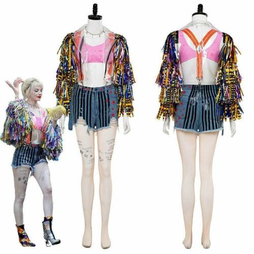 New Birds Of Prey Suicide Squad Harley Quinn Cosplay Women Costume Set