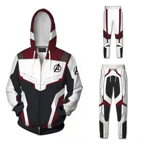 Avengers Endgame Cosplay Quantum Realm Hoodie Costume Zipper Sweatshirt Jacket Avengers Endgame Quantum