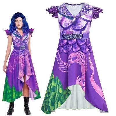 Descendants 3 Girls Princess Fairy Ball Gown Party Fancy Dress Cosplay