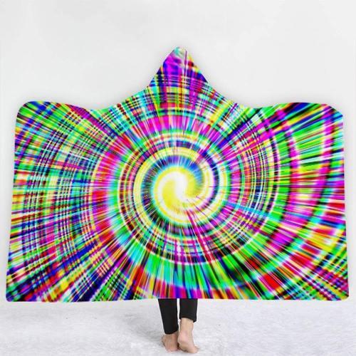 Galaxy Cat Hooded Blanket Hooded Blanket