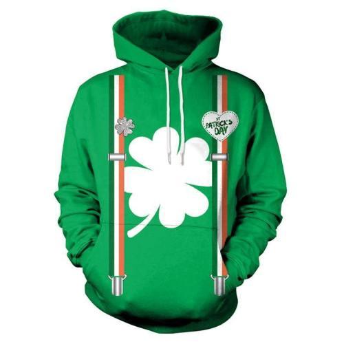 Irish Pullover Hoodie St. Patrick'S Day Green 3D Sweatshirt