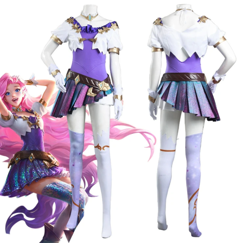 League Of Legends Lol Kda Groups Seraphine Skin Women Dress Outfits Halloween Carnival Suit Cosplay Costume