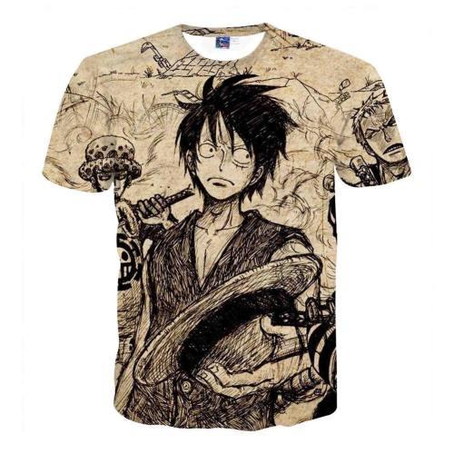 One Piece T-Shirt - Monkey D Luffy 3D Print T-Shirt Csso031