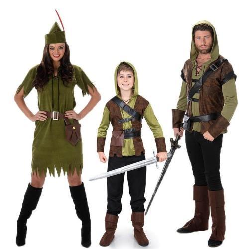 Robin Hood Peter Pan Prince Thieves Medieval Sherwood Hunter Costume