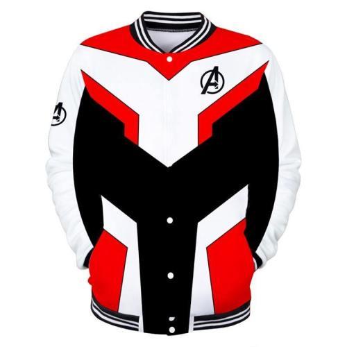 Avengers Endgame Cosplay Costumes Women Men Superhero Quantum Realm Baseball Uniform Daily Casual Sweater Sportswear Coat Tops