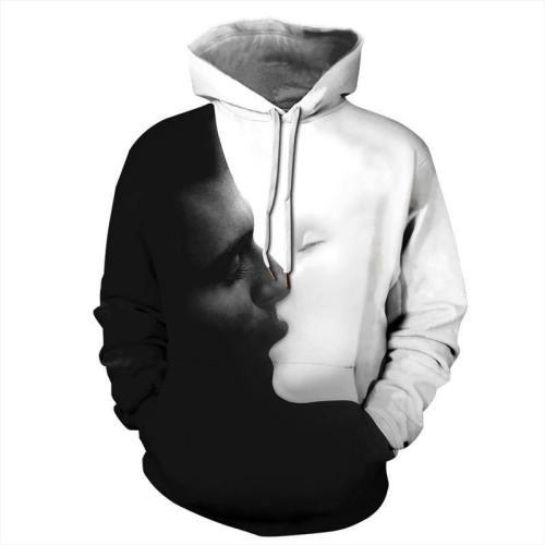 Mens Hoodies 3D Graphic Printed Valentine'S Day Pullover Hoodie