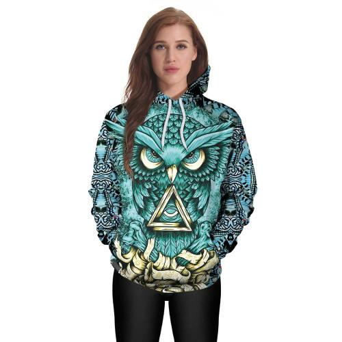 Owl 3D Print Sweater Hoodie