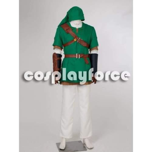 Deluxe The Legend Of Zelda Link Green Cosplay Costume