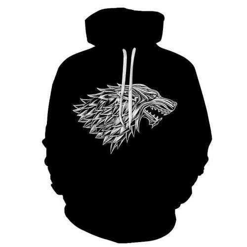 Got Inspired -The Grey Dragon - 3D Hoodie Sweatshirt Pullover