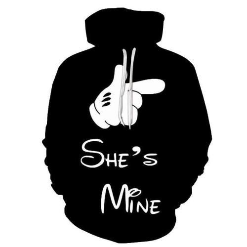 She'S Mine 3D Hoodie Sweatshirt, Hoodie, Pullover
