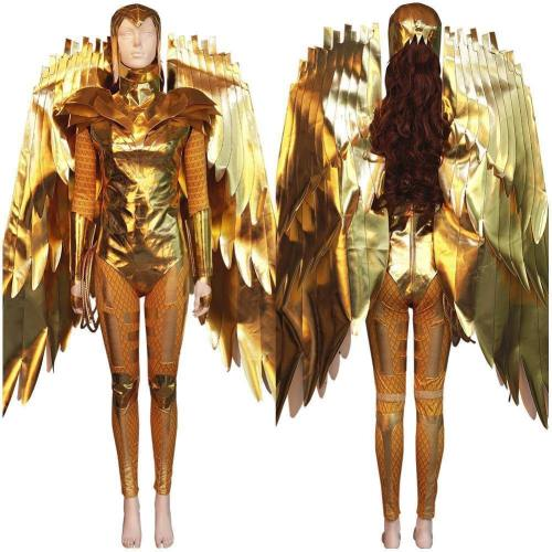 Wonder Woman  Diana Prince Gold Armor Jumpsuit Outfits Halloween Carnival Suit Cosplay Costume