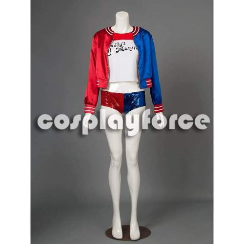 Suicide Squad Harley Quinn Cosplay Costume mp002869