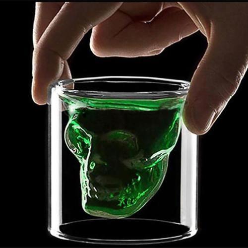 Transparent Crystal Skull Wine Glass
