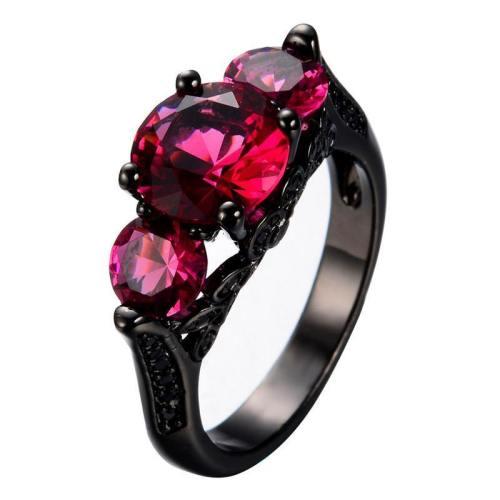 Black Gold-Filled  Pink Ring Version 3.0