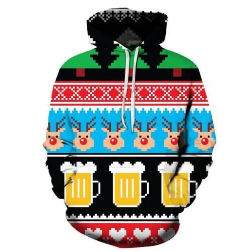 Beer Christmas Hoodie - Sweatshirt, Hoodie, Pullover