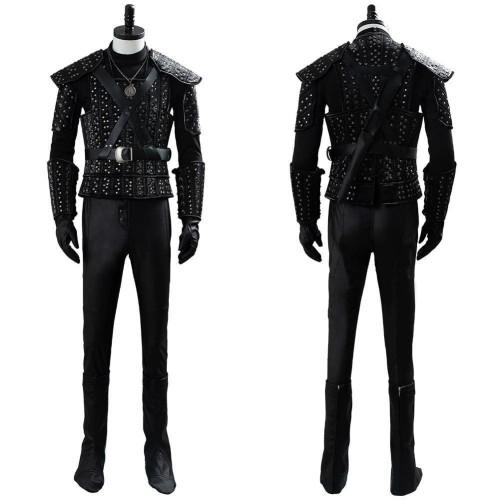 The Witcher Cavill Geralt Uniform Tv Show Cosplay Costume