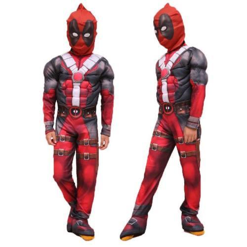 Deadpool Jumpsuit Costume For Children Halloween Cosplay
