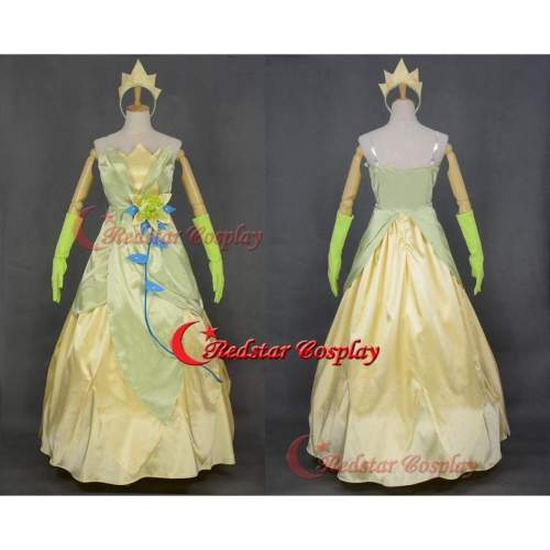 Princess And The Frog Inspired Tiana Costume Cosplay Dress Princess Tiana Frog Queen Inspired Dress Costume