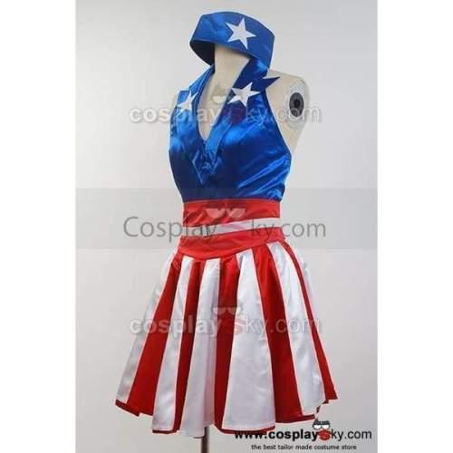 The Avengers Captain America Dress Costume Halloween Cosplay