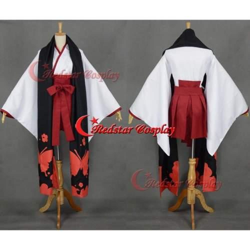 Inu X Boku Ss Shirakiin Ririchiyo Printing Kimono Cosplay Costume