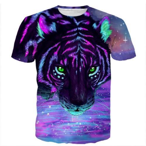 Neon Colorful Art Tiger Shirt