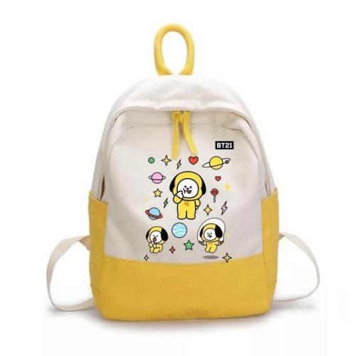 Bts Bangtan Boys Bt21 Backpack School Bag Unisex Cosplay Prop