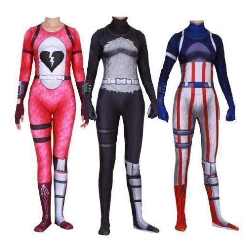 Fortnite Rose Team Leader Red Knight Halloween Zentai Jumpsuit Costume