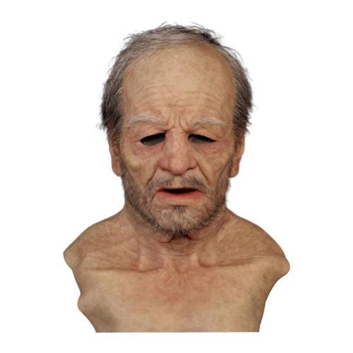 Realistic Old Man Latex Helmet Halloween Masquerade Male Cosplay Props