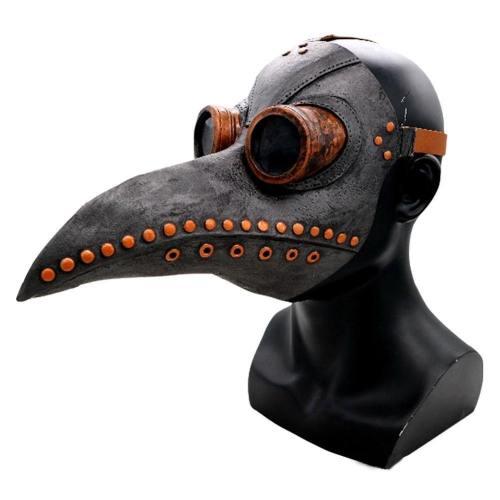 Plague Doctor Long Nose Bird Beak Steampunk Halloween Face Cover Costume Props