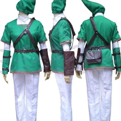 The Legend Of Zelda Link Green Link Cosplay Costume