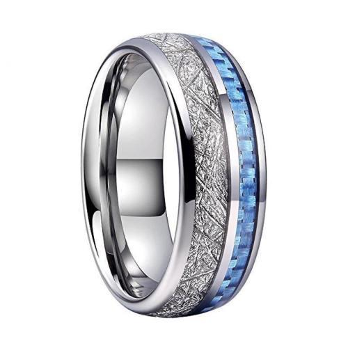 Meteorite Blue Carbon Ring