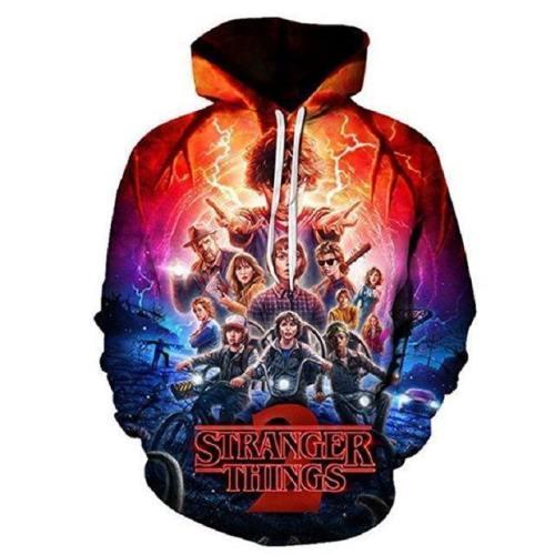 Stranger Things Cosplay Costume Dustin Hoodie Sweatshirts