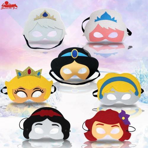 Girls Costume Mask Masquerade Performance Half Face Sequin Lace Mask Princess