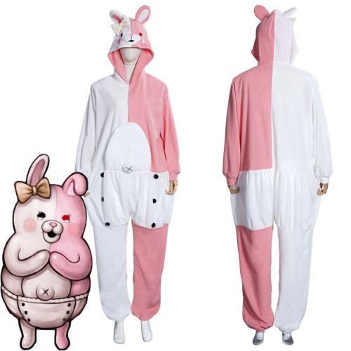 Danganronpa Dangan Ronpa Monokuma And Monomi Jumpsuit Pajamas Sleepwear Halloween Carnival Suit Cosplay Costume