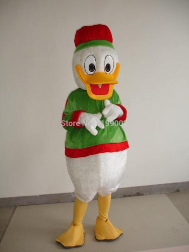 Christmas Donald Duck Adult Size Mascot Costume Halloween Christmas Mascot Costume For Halloween Party Event