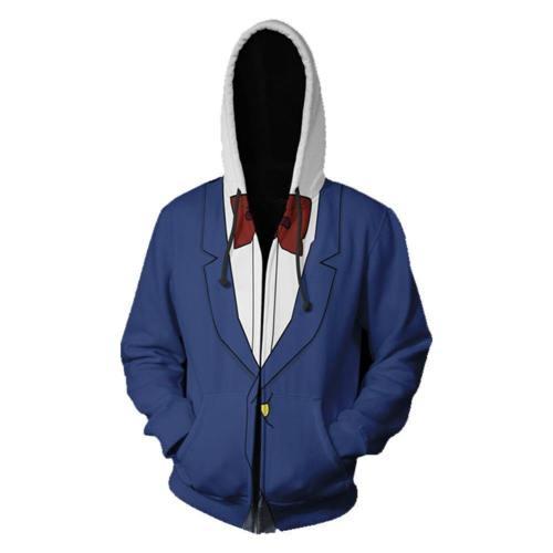 Unisex Conan Hoodies Detective Conan Zip Up 3D Print Jacket Sweatshirt