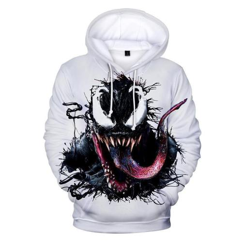 Venom 3D Printing Casual Long-Sleeved Hooded Pullover For Men