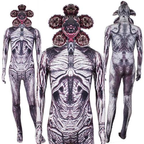 Stranger Things Demogorgon Jumpsuit Costume Corpse Flower Cosplay For Halloween Party