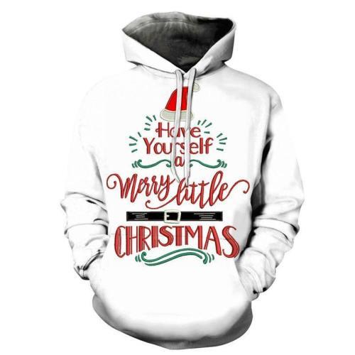 Merry Little Christmas Hoodie - Sweatshirt, Hoodie, Pullover