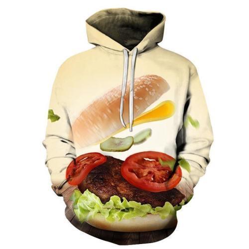 Burger 3D Hoodie