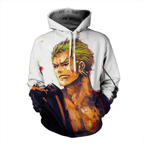 One Piece Hoodie - Zoro Pullover Hoodie Csso002