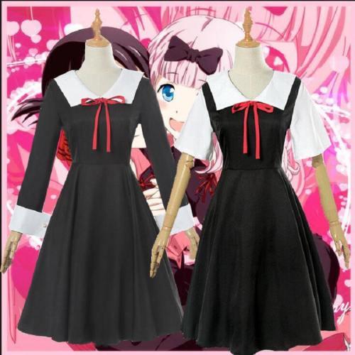 Fujiwara Chika Dress Cosplay Costume For Girls