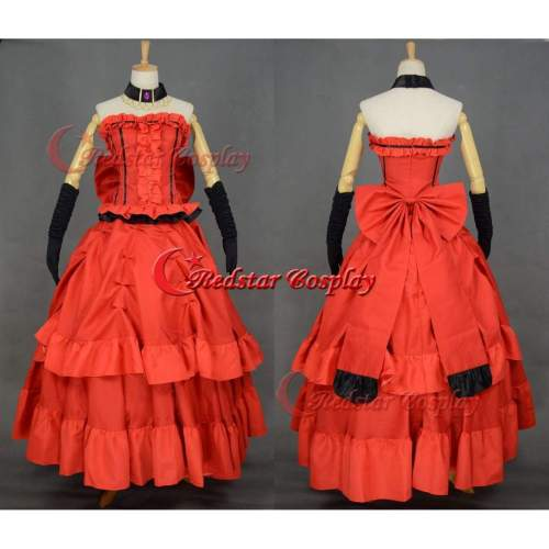 Black Butler Madame Rouge Cosplay Costume Red Dinner Party Dress