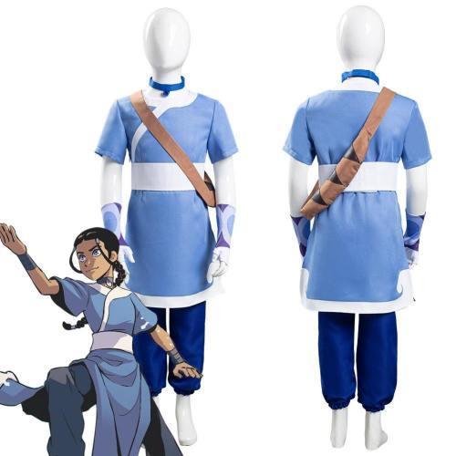 Avatar: The Last Airbender Katara Kids Children Halloween Carnival Suit Cosplay Costume