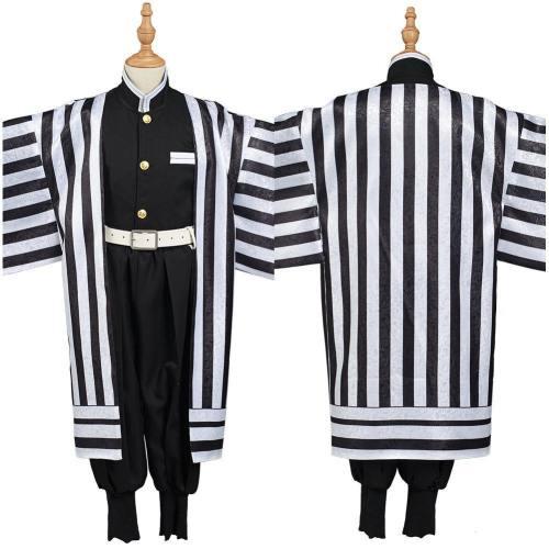 Demon Slayer: Kimetsu No Yaiba Iguro Obanai Kids Kimono Outfits Halloween Carnival Suit Cosplay Costume