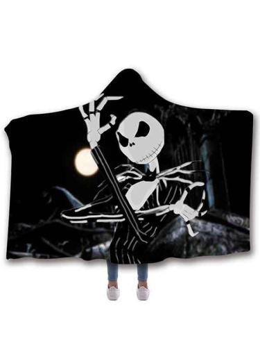 Winter Warm Jack Skellington The Nightmare Before Christmas Hooded Blanket