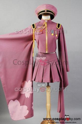 Vocaloid Senbon Sakuras Zakura Miku Cosplay Costume Uniform Dress