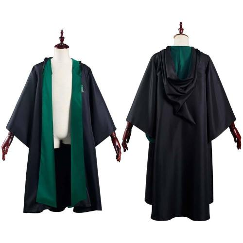 Harry Potter Slytherin Magic Gown Robe Halloween Carnival Suit Cosplay Costume