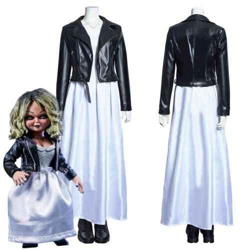 Bride Of Chucky Tiffany Outfit Long Dress Ver Halloween Carnival Suit Cosplay Costume